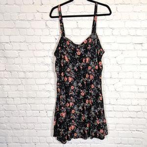 Torrid Black and Pink Floral Dress 3